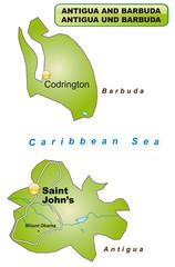 Karte von Antigua-Barbuda