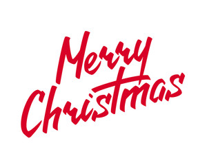 Merry Christmas lettering Handmade Calligraphy