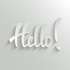Hello lettering Greeting Card
