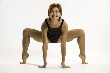 flexible-legged woman