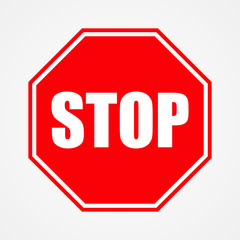 Sign stop red vector illustration
