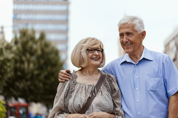 Mature Couple On Promenade