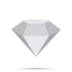 diamond  icon with shadow