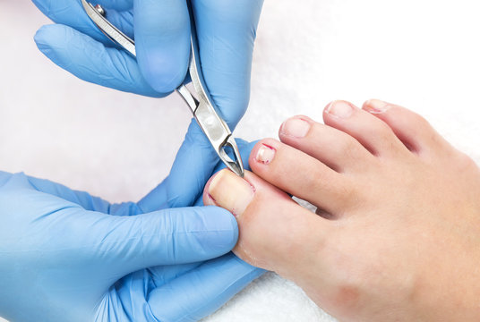 process of pedicure at beauty salon body