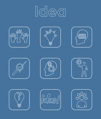 Set of idea simple icons