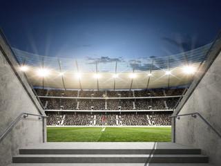 Wall Mural - Stadion mit Blick aus dem Mittelgang