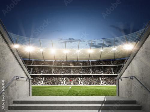 Wall mural Stadion mit Blick aus dem Mittelgang