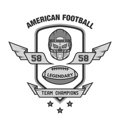 American football emblem.