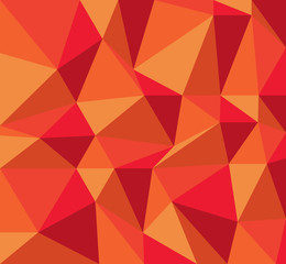 Abstract of Red Triangle shape low poly for background