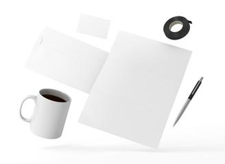 Briefpapier Kuvert Visitenkarte Vorlage Kaffee