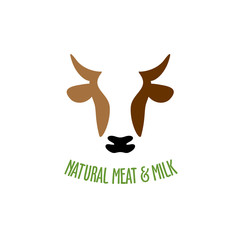 Cow head logo