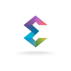 Letter E geometric logo