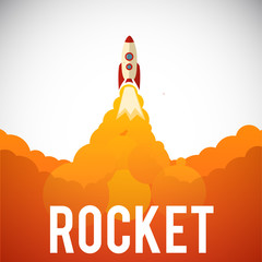 vector illustration of Rocket launch icon. Vector illustration e