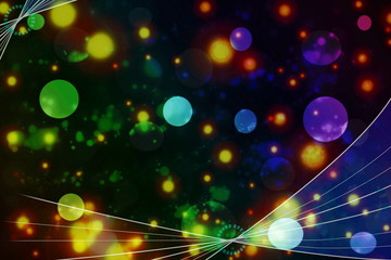 Colorful de focused circles light abstract background
