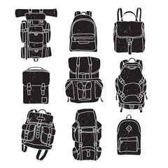 Backpack Vintage Labels