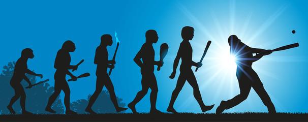 Hommes Evolution Baseball