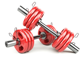Dumbbells red