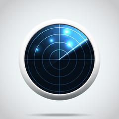 vector illustration of Radar icon. I