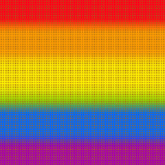 Gay vector flag or LGBT vector flag sign isolated. Gay culture symbol. Mosaic dots background.