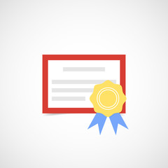 The diploma icon. Certificate. Vector