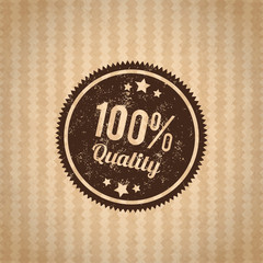 vector illustration of Badge best choice isolated on cardboard b