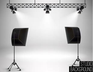 vector illustration of Illustration of Spot light studio backgro
