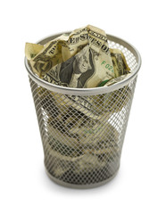 Money Trash Can