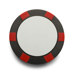 Red Black Poker Chip
