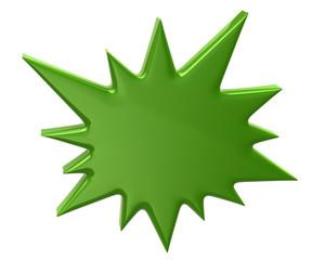 Green bursting star icon