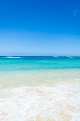 Wall Mural - Ocean and tropical sandy beach background