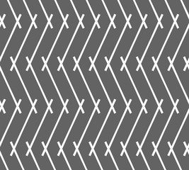 Monochrome pattern with gray intersecting lines forming vertical