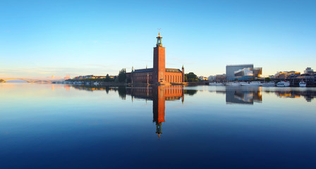 In de dag Stockholm The city hall, Stockholm