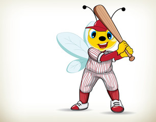 Baseball Player-Bee