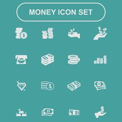 money business market icon set