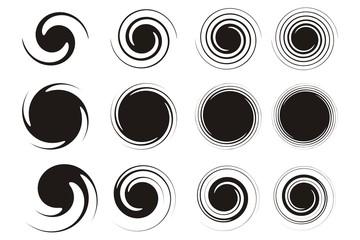 Spiral Set Silhouette