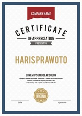 Template Certificate