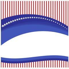 Ribbon banner  flag American vector