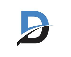 D Letter Swoosh Modern Logo