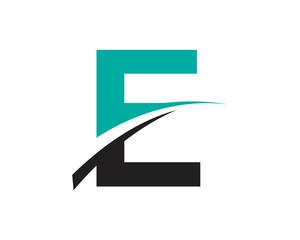 E Letter Swoosh Modern Logo
