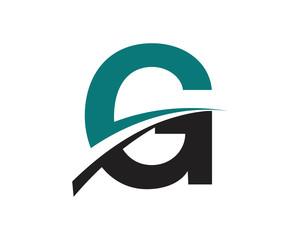 G Letter Swoosh Modern Logo