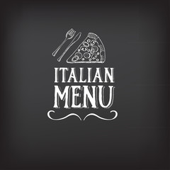 Menu logo template vintage badge. Vector food design.