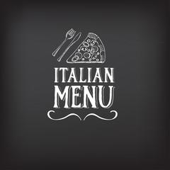 Menu logo template vintage badge. Vector food design.