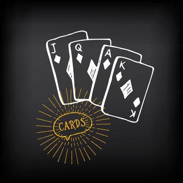 Cards sketch vector design.