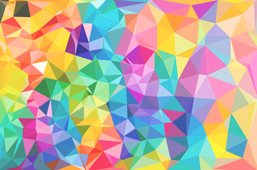 Colorful flower polygonal mosaic.