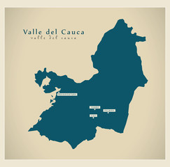Modern Map - Valle del Cauca CO