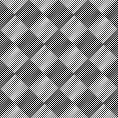 Black and white geometric seamless pattern with line, abstract b