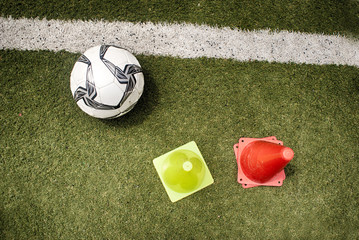 Soccer ball on a grass field