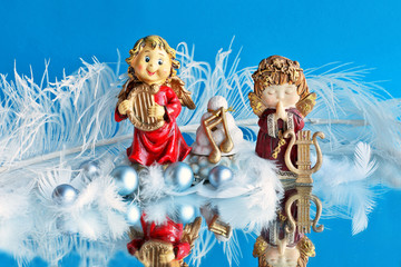 Christmas song  and pray by angels