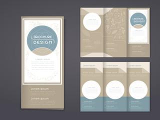 elegant tri-fold template design