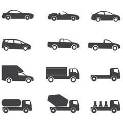 car icons vector illustration